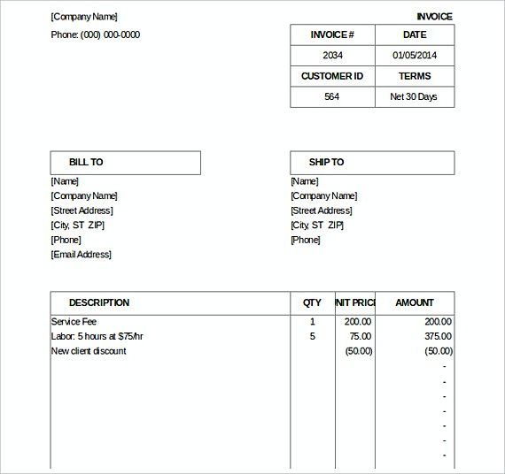 Billing Invoice templates , Downloadable Invoice Template , How to - template for a billing invoice