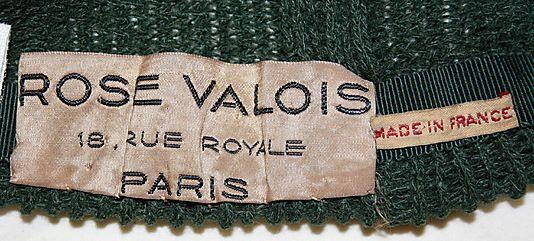 Rose Valois Hat French The Metropolitan Museum Of Art Vintage Labels Fashion Labels Labels