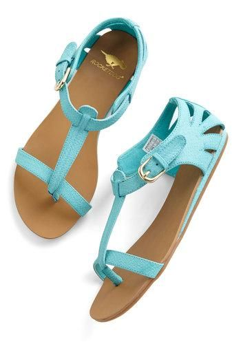 Walk on Sunshine Sandal in Turquoise