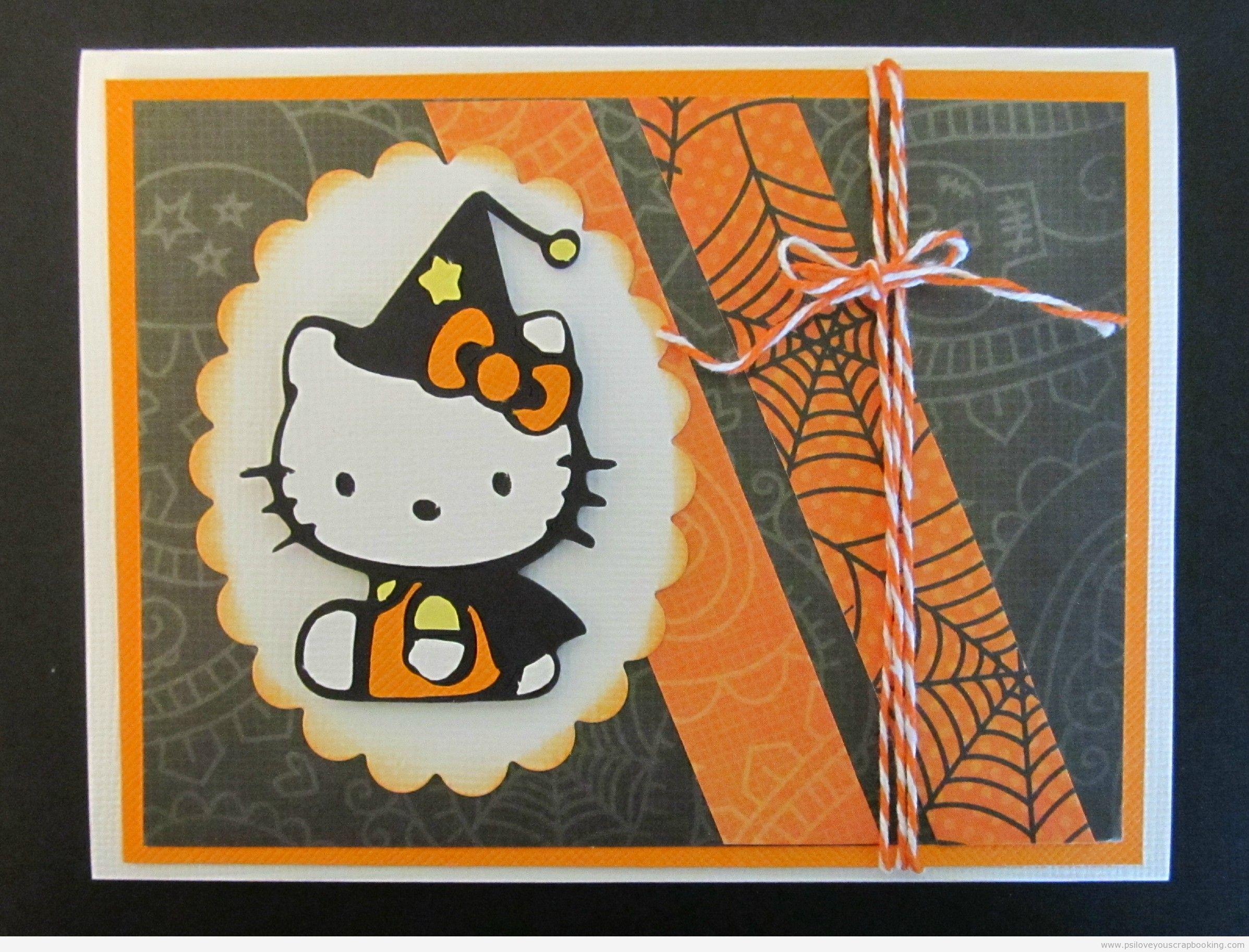 Scrapbook ideas hello kitty - Hello Kitty Halloween Card