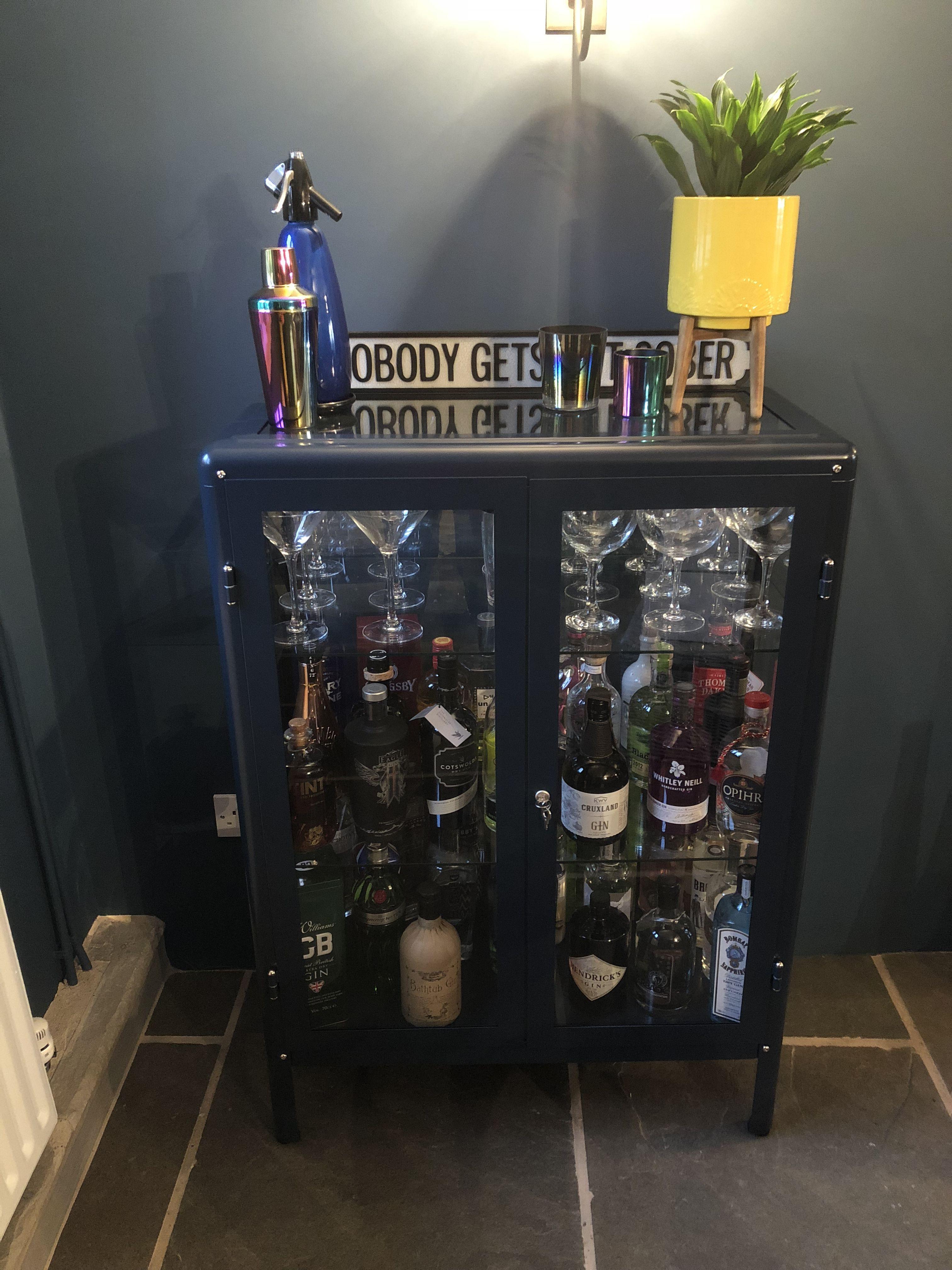 Gin Cabinet Ikea Fabrikor Cabinet In Blue In 2019 Home