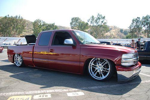 Slammed Chevy Silverado Extended Cab Pickup Truck Chevy Silverado Custom Chevy Trucks Pickup Trucks