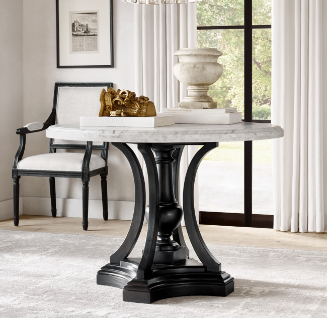St James Marble Round Entry Table In 2020 Round Entry Table Round Table Decor Round Foyer Table