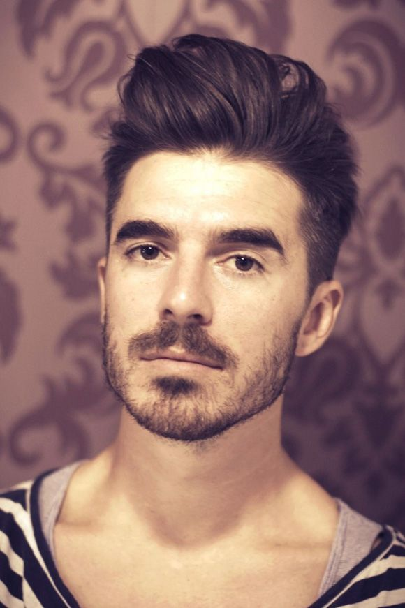 Quiff Hairstyle Beard Men Trend