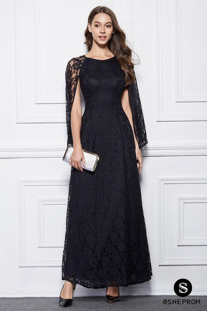 Long Lace Cape Style Party Dress Lace Dress Long Ankle Length Dress Lace Evening Dresses