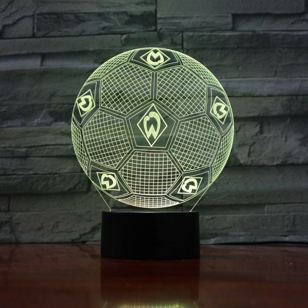 Football soccer werder bremen 3d led lamp logo flag