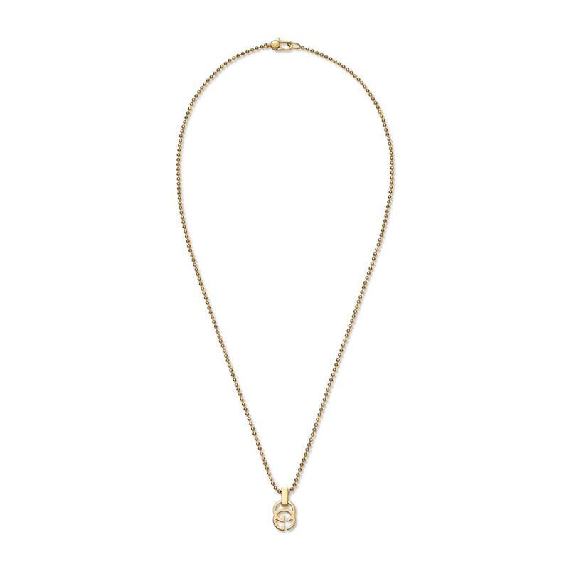 818aa041a Gucci 18K Yellow Gold Running G Necklace, 17.71   Gucci Jewelry in ...