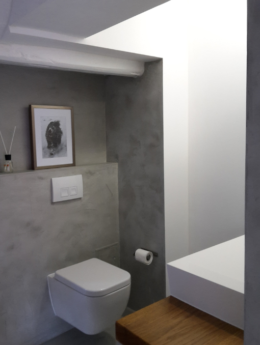 Fugenloser Putz Im Bad. Beton Cire Dusche. Fugenlose Badgestaltung.