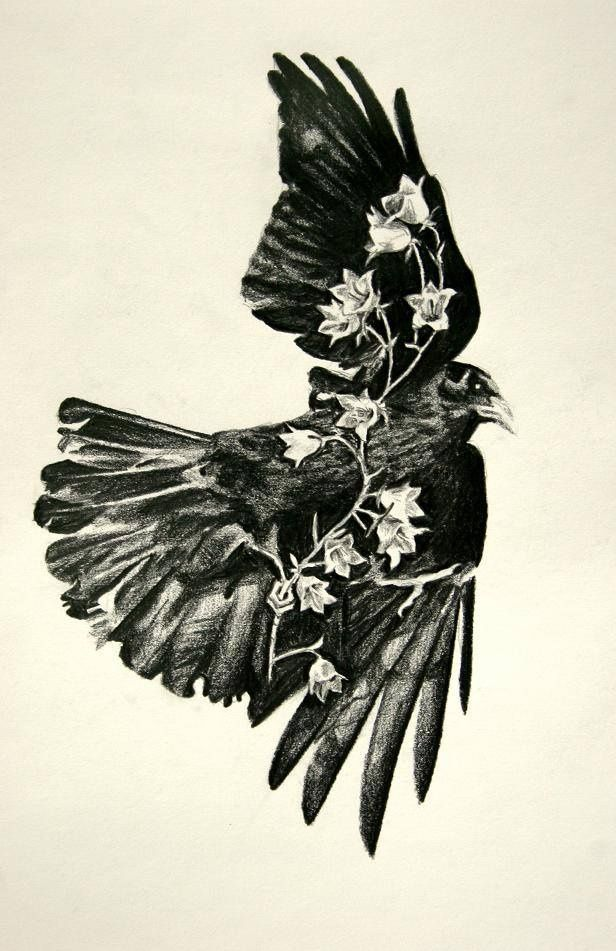 Ravens Small Abstract Tattoos