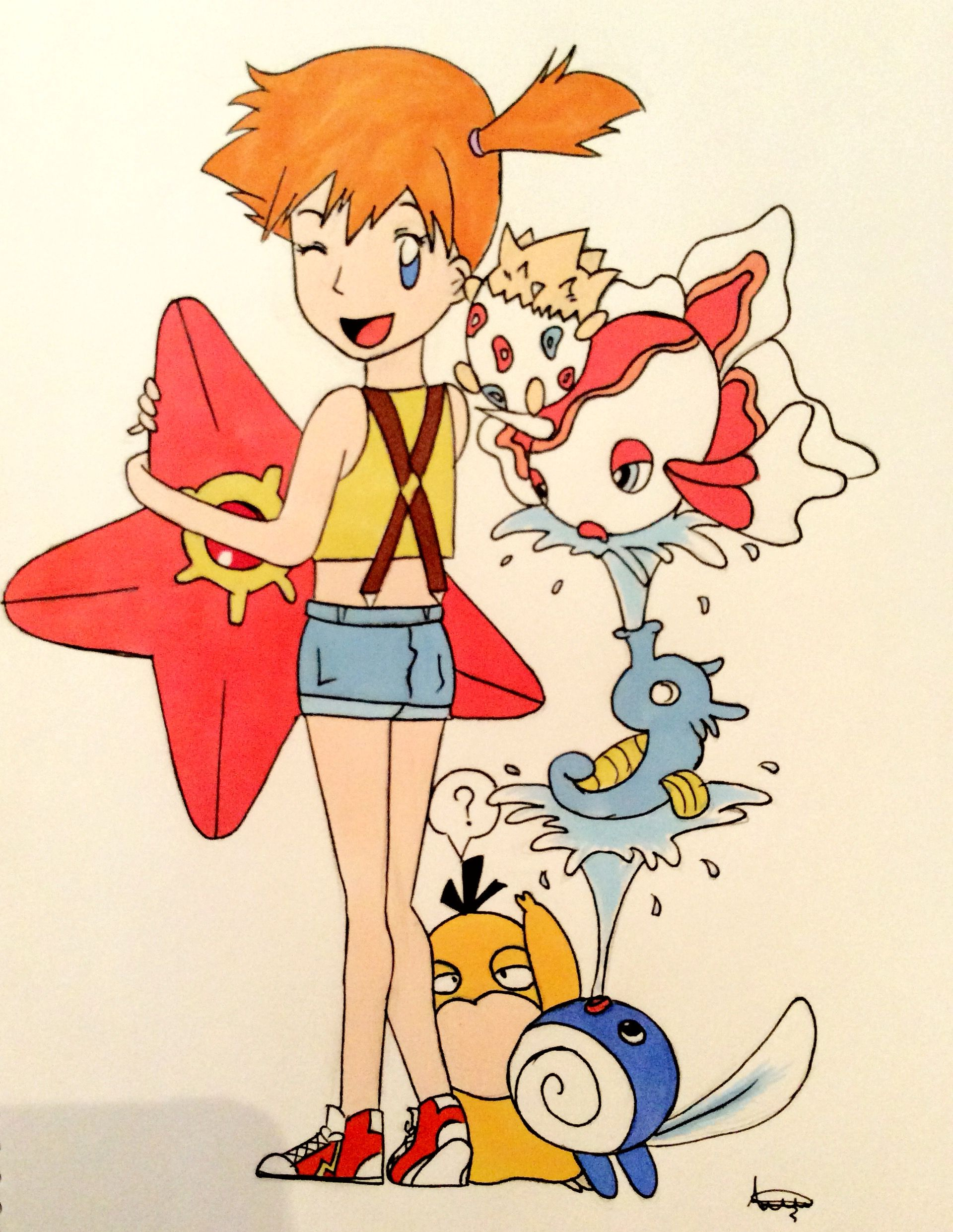 misty from pokemon and most of her pokemon