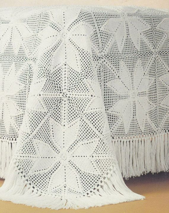 Bedspread Crochet Patterns 6 Designs | Colchas perlé lisas ...