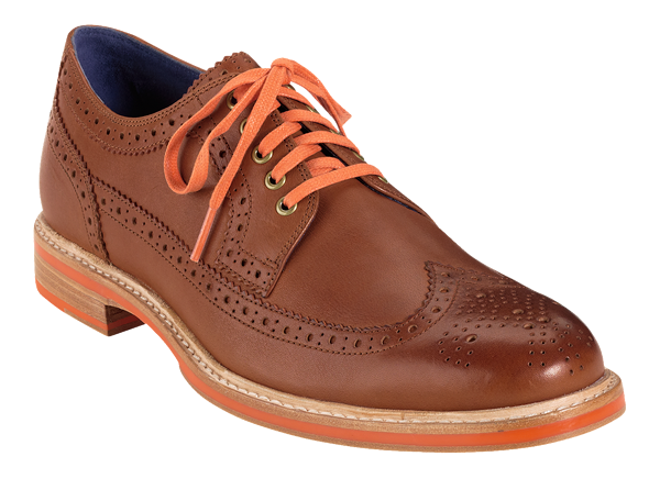Fabulous Cole Haan Cooper Square Wingtips. Classic men's dress shoe with an  orange ...