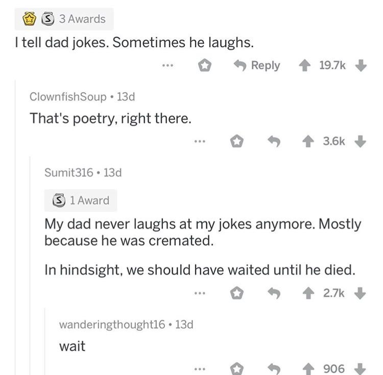 Dad Jokes Reddit Funny Instagram Memes Fandom Funny Seriously Funny