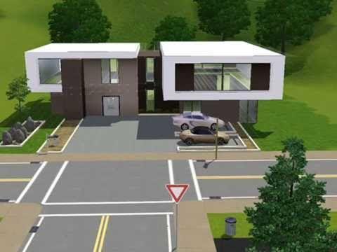 Modern house casa café the sims 3 youtube