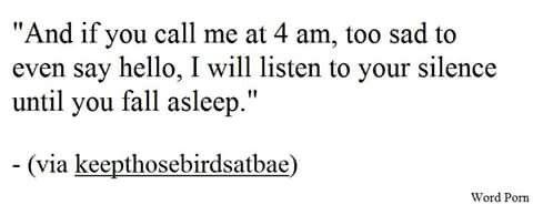 promise.. i will listen...