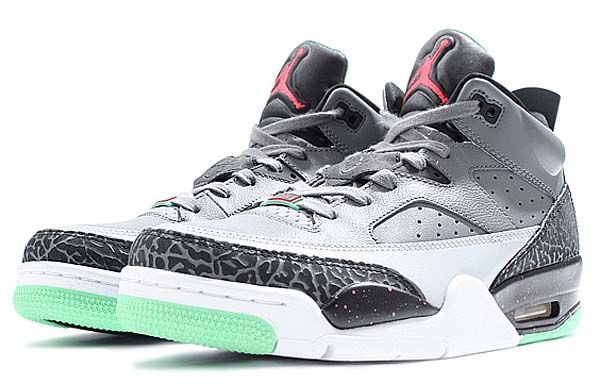 reputable site c541d 64f01 NIKE JORDAN SON OF LOW  COOL GREY   INFRARED 23-BLACK-LIGHT POISON GREEN   (580603-031)