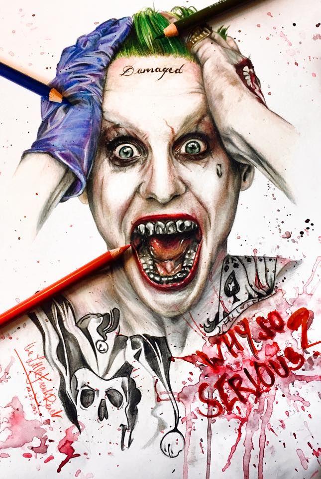 Jared Leto Joker by thefrenchberet | Stuff | Zeichnungen ...