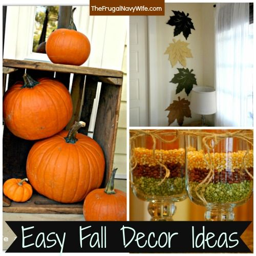 10 Easy Fall Decor Ideas, - Decorate your house for fall on a budget - halloween homemade decoration ideas