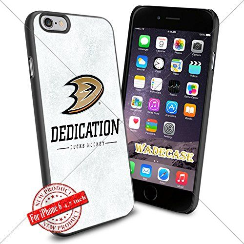 Anaheim Ducks Logo WADE7365 NHL iPhone 6 4.7 inch Case Protection Black Rubber Cover Protector WADE CASE http://www.amazon.com/dp/B015AI1IC0/ref=cm_sw_r_pi_dp_QKjpwb0394TNA