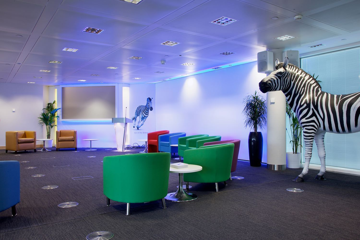 Break out area 50000 sq ft office design and build
