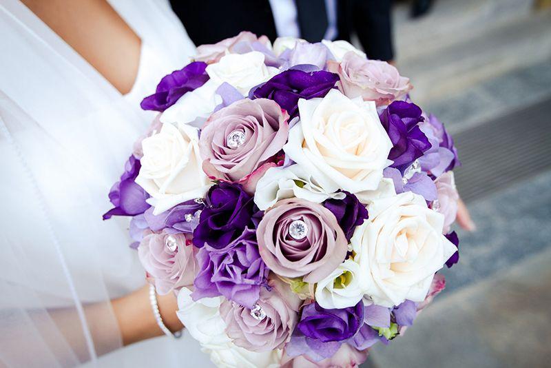 Brautstrauss Lila Rose Weiss Hochzeit Pinterest Wedding Bridal