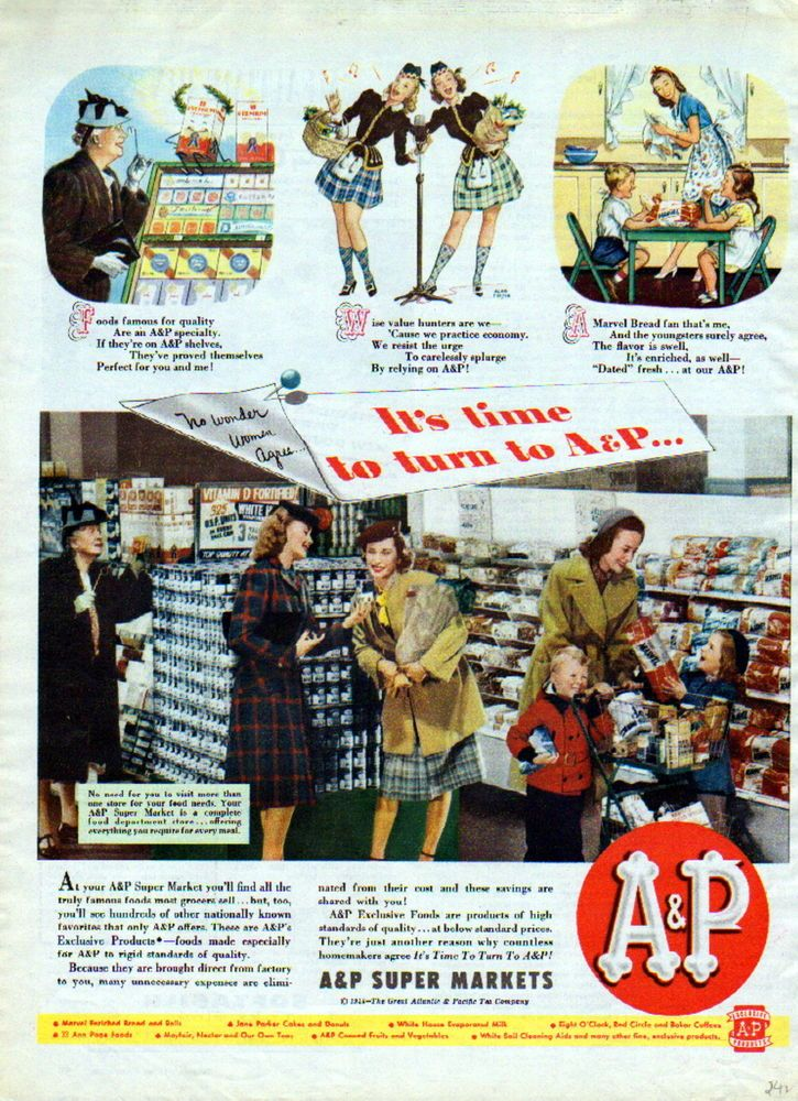 1944 A & P Super Markets ad -grocery store ad -/242
