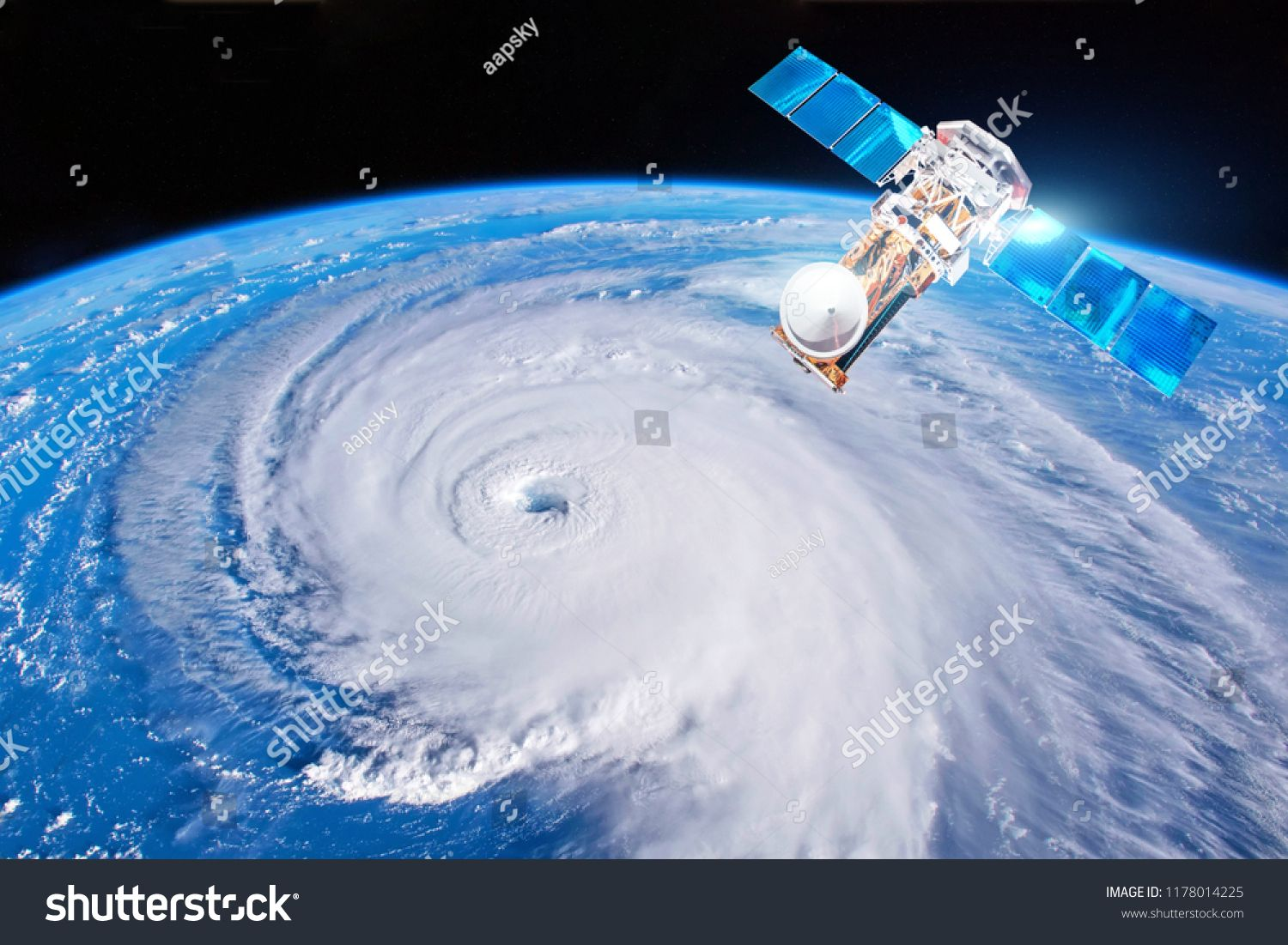 Research Probing Monitoring Hurricane Florence Satellite Above The Earth Makes Measurements Of The Weather Parameters Elements Probe Nasa Images Satellites