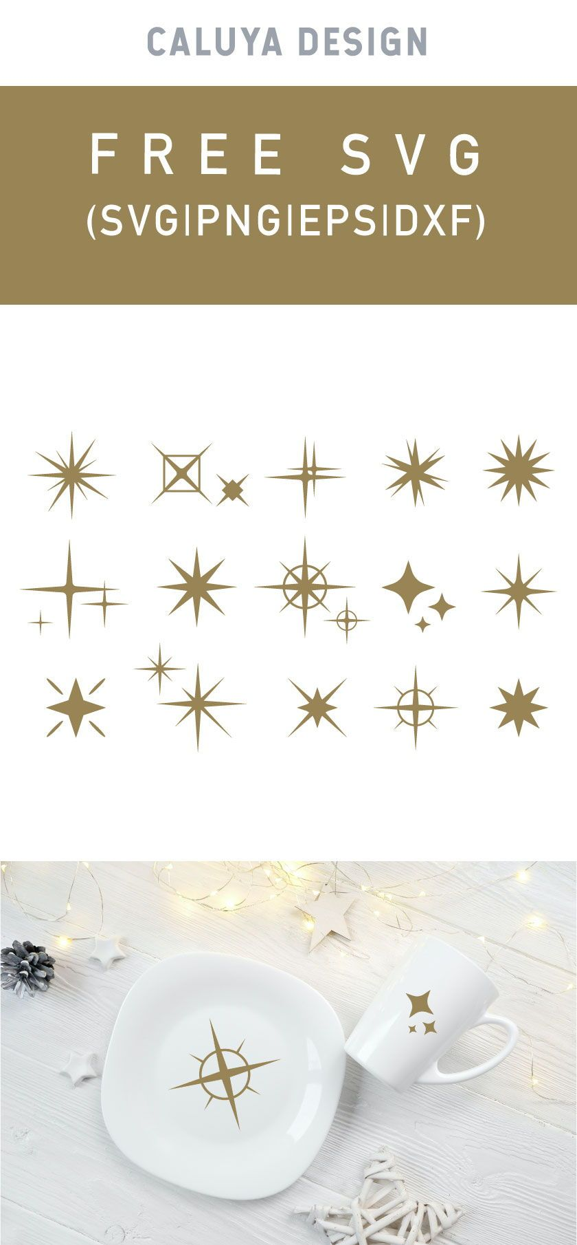 Free Sparkling Symbol Bundle SVG Cut File  #cricutcrafts