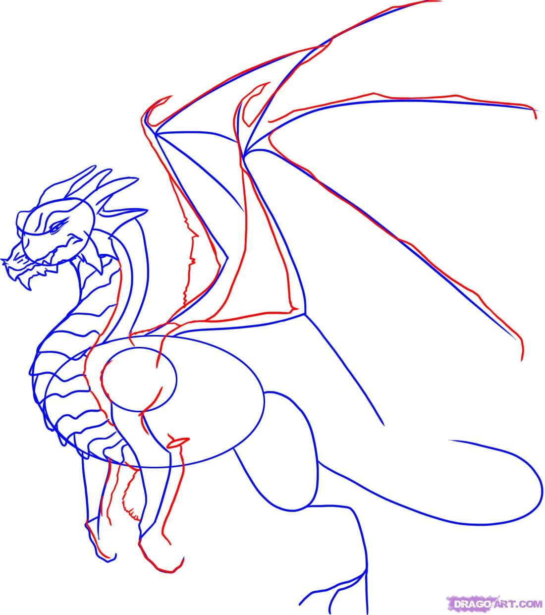 How To Draw A Dragon Step By Step Step 4
