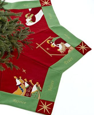 Jabara Christmas Tree Skirt, Nativity Scenes crafts Pinterest
