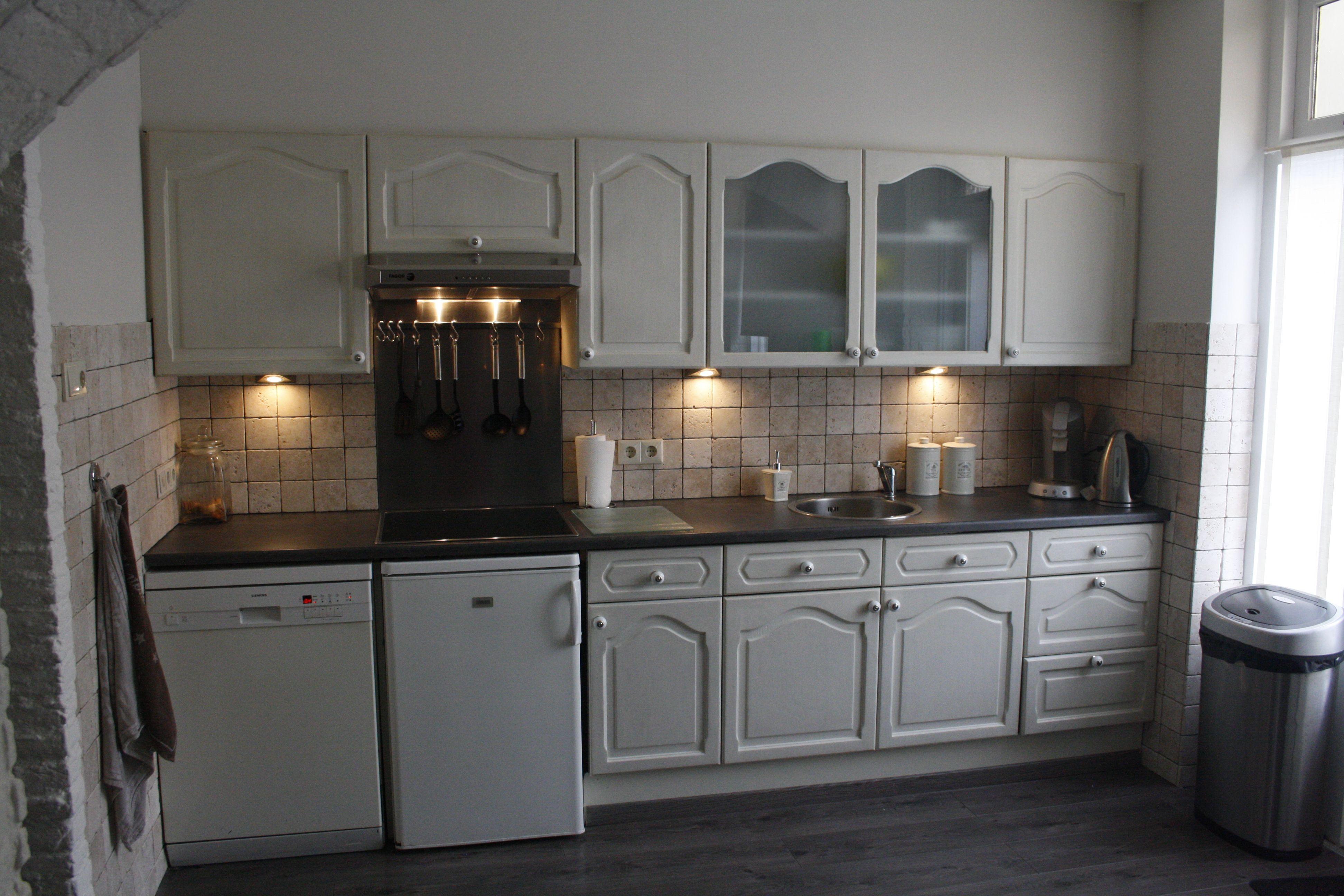 Oude eiken keuken white wash gemaakt deco pinterest keuken - Idee deco keuken grijs ...