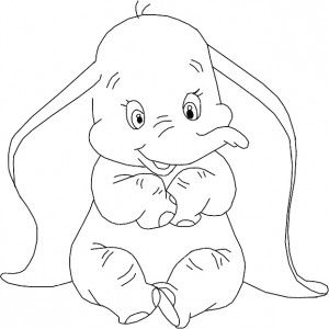 Dumbo Stencil | Elephant coloring page, Disney coloring ...