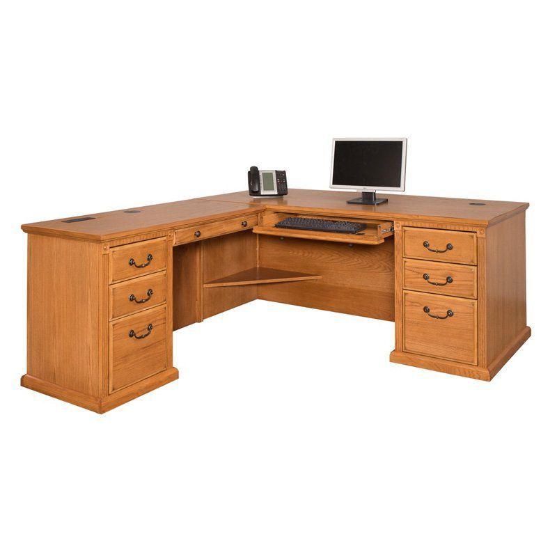 kathy ireland by Martin Huntington Oxford Left L-Shaped Desk - Wheat