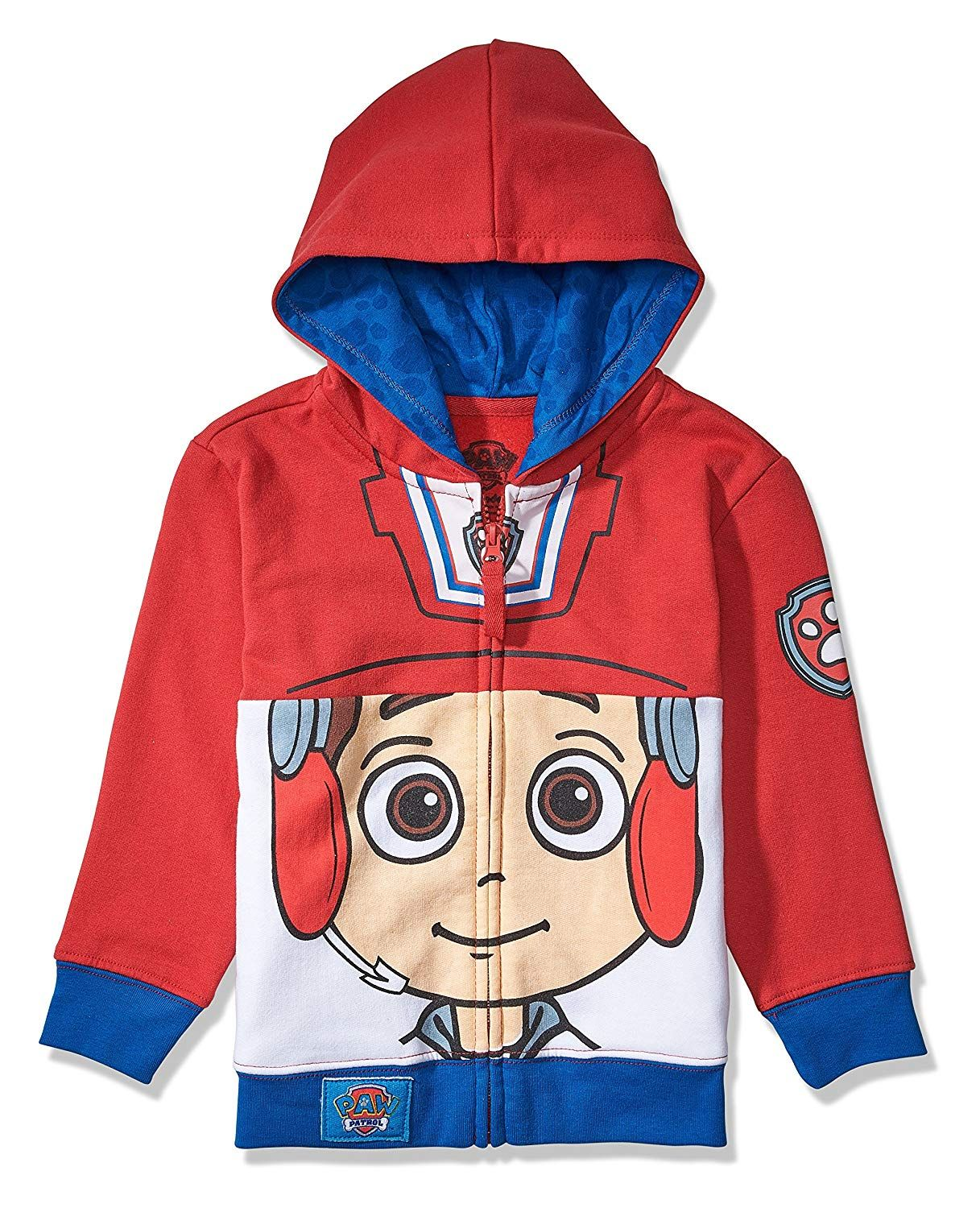 Paw Patrol Boys Big Face Zip-up Hoodie