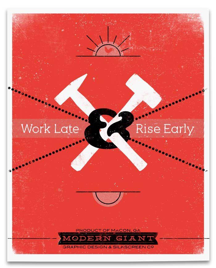 THIIIIIS. SO MUCH. [Work Late & Rise Early. $19.95, via Etsy.]