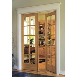 Jeld Wen Woodgrain 10 Lite Unfinished Pine Prehung Interior French Double Door With Primed Jamb Discontinued Thdjw103800107 The Home Depot French Doors Interior Doors Interior Glass Doors Interior