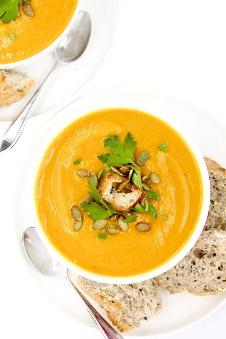 Turmeric Sweet Potato Pumpkin Soup V Gf Plantiful