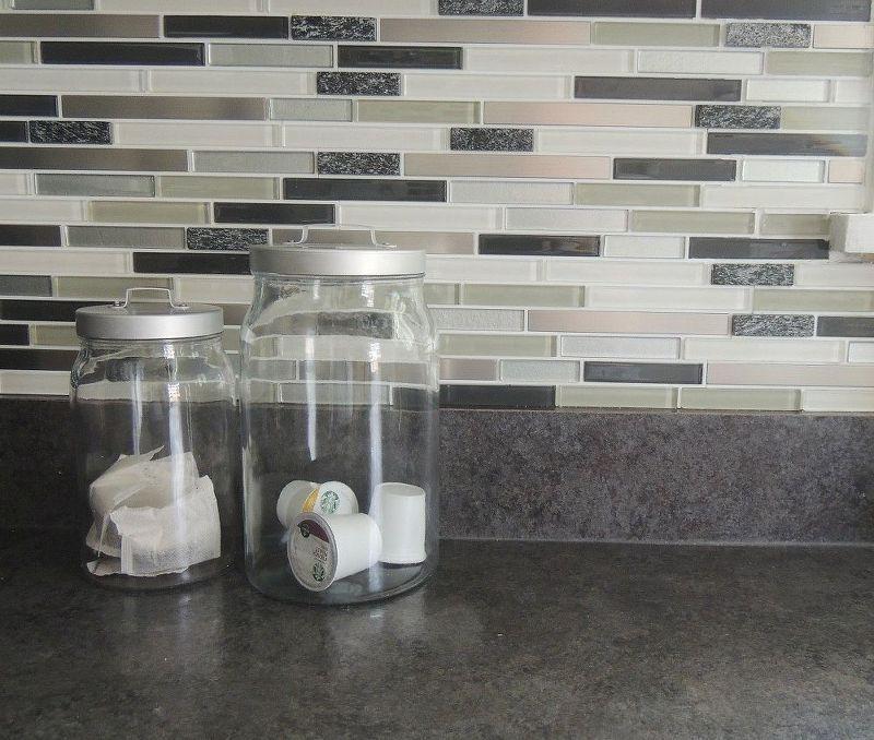 Peel Stick Kitchen Backsplash Stick On Tiles Kitchen