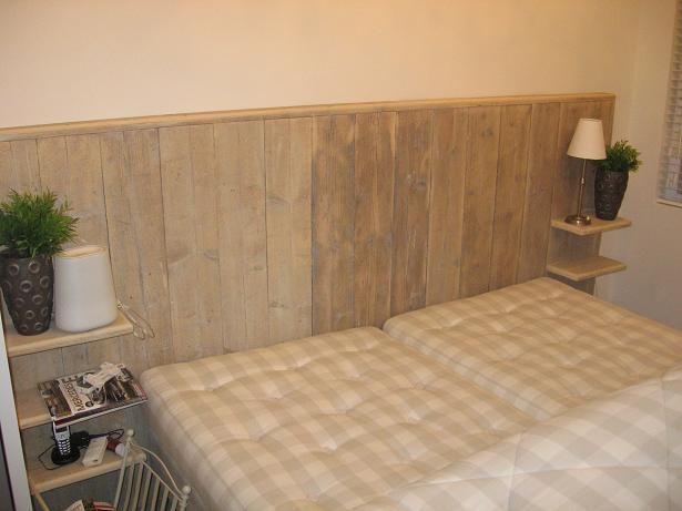 steigerhouten achterwand met afwerking bedroom pinterest