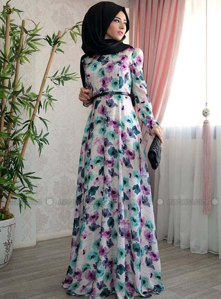 Fabulous Robe D'Été Pour Femme Voilée5 | Hijab summer outfit | Pinterest  SA31