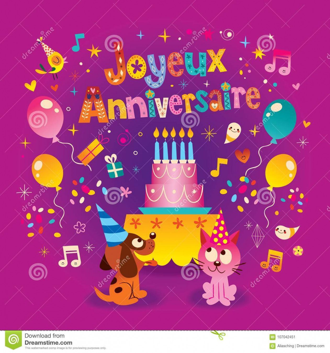 12 Creative Happy Birthday In French Card di 2020