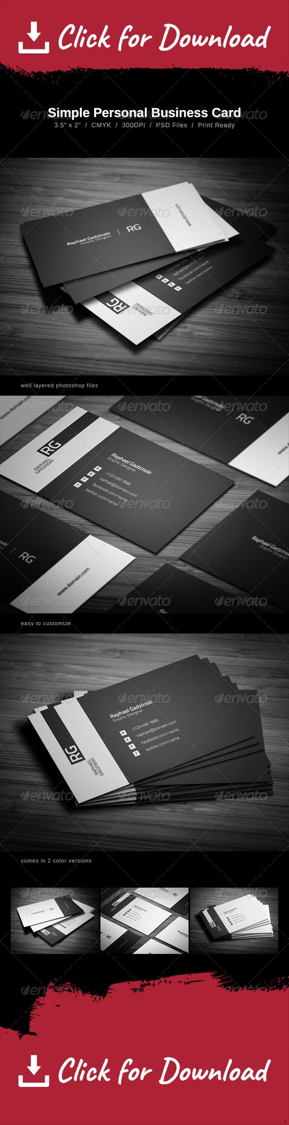 Simple business card simple business cards business cards and simple business card can be used for almost any kind of company or even personal use the card comes in one color version reheart Gallery