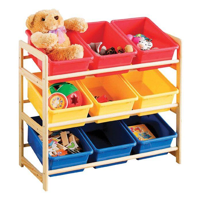 9 Cube Kids Red Yellow Blue Toy Games Storage Unit Girls: Organizadores De Juguetes Súper Útiles