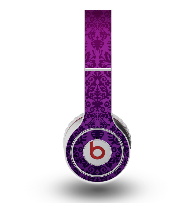 The Purple Delicate Foliage Pattern Skin for the Original Beats by Dre Wireless Headphones