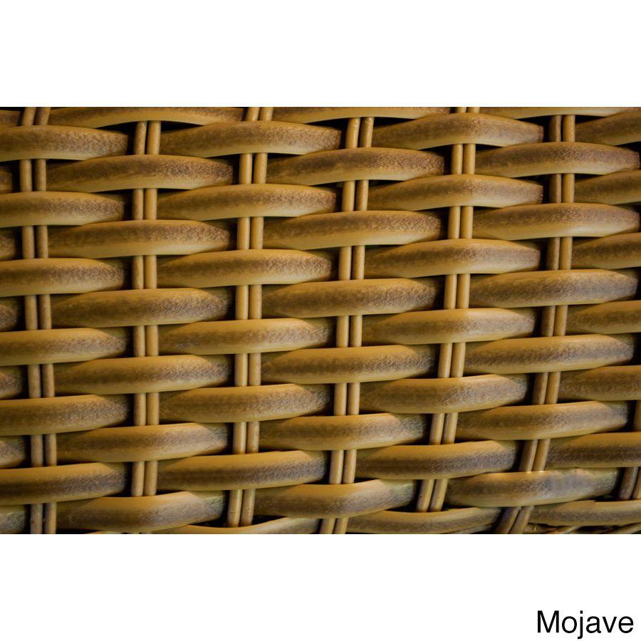 Richmond 6-piece Round Teak Tables/ Loveseat/ Club Chair Set (Mojave), Brown, Size 6-Piece Sets, Patio Furniture (Aluminum)