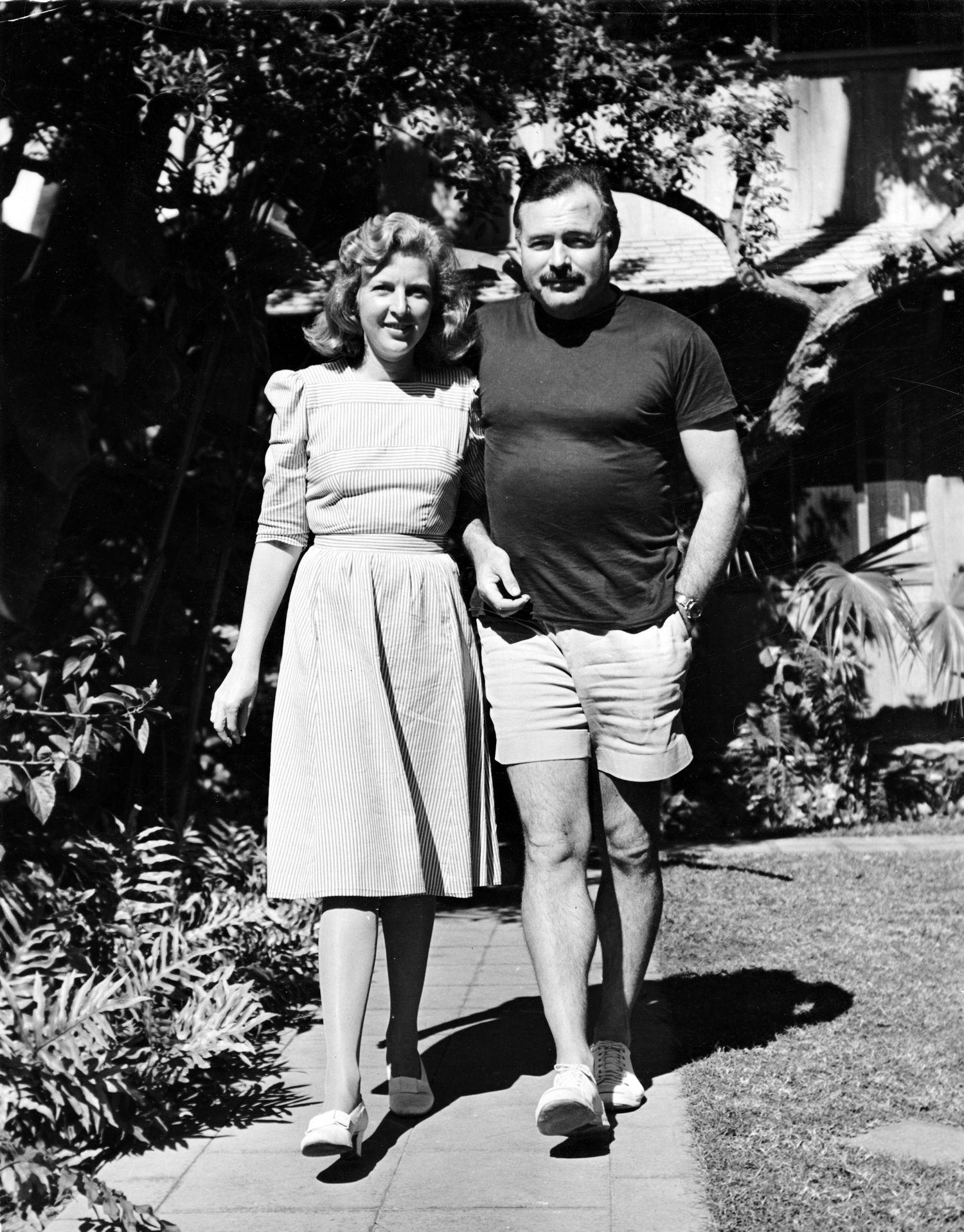 EH5638P ca. 1941 Martha Gellhorn and Ernest Hemingway ...