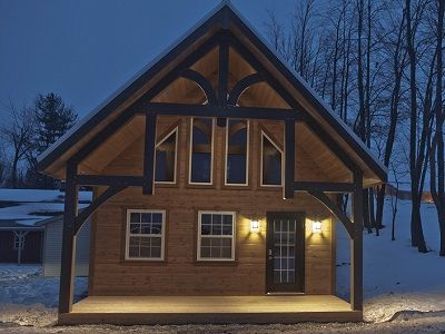 TIMBER LODGE CABINS FOR SALE IN OHIO   AMISH BUILDINGS   Small homes ...