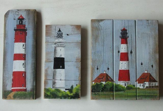 Suchen sie ein maritimes Bild auf Palettenholz? Hier sind viele Beispiele zu sehen. #palettendeko