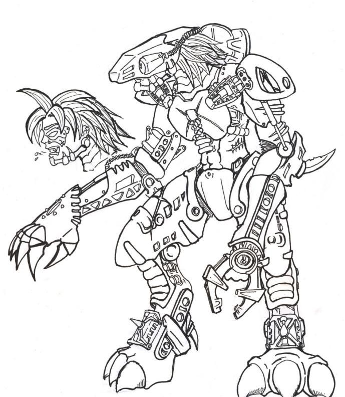 lego bionicle coloring pages to print värityskuvia pinterest