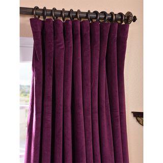 Eggplant Velvet Blackout Extra Wide Curtain Panel